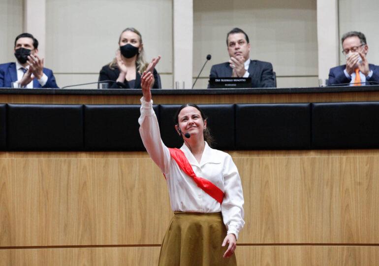Alesc homenageia Anita Garibaldi, a heroína dos dois mundos